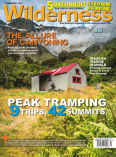 Image of the February 2017 Wilderness Magazine Cover