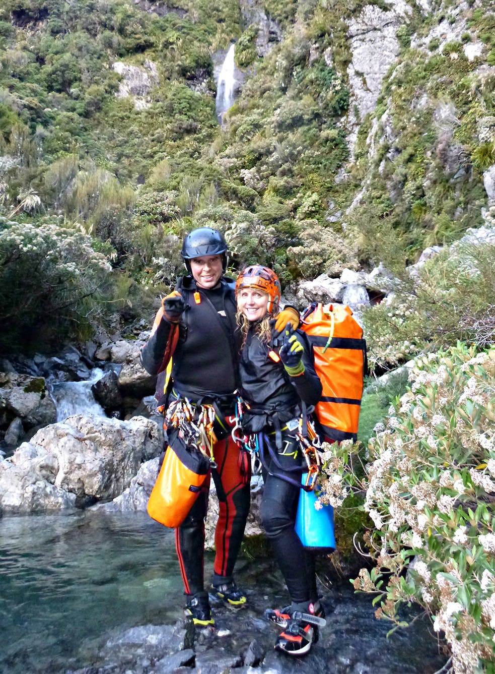James Abbott and Nola Collie have 60 canyoning trips planned for this upcoming season. Photo: Supplied