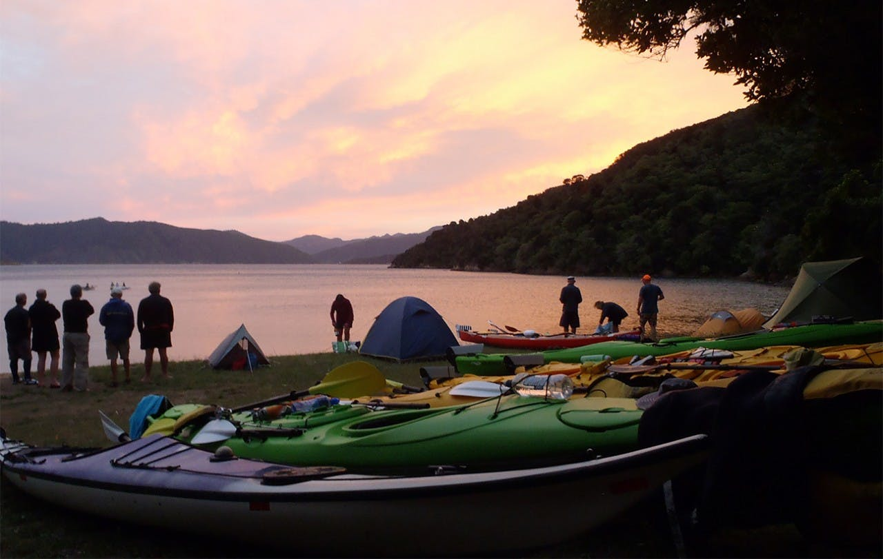 Sunset at Ratimera Bay, Queen Charlotte Sound. Photo: Ruth Henderson