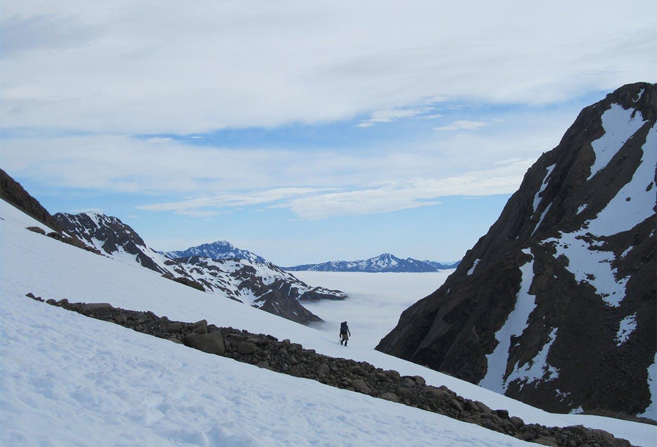 On Waimakariri Col, facing the Rolleston Valley. Photo: Christy McKellar