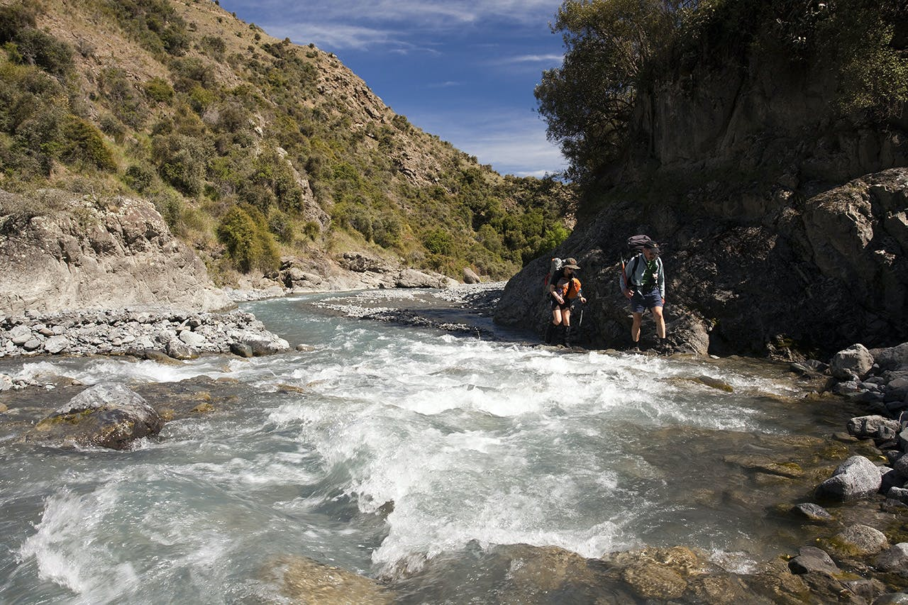 Sue and Pat in the lower Hodder River. Photo: Ray Salisbury