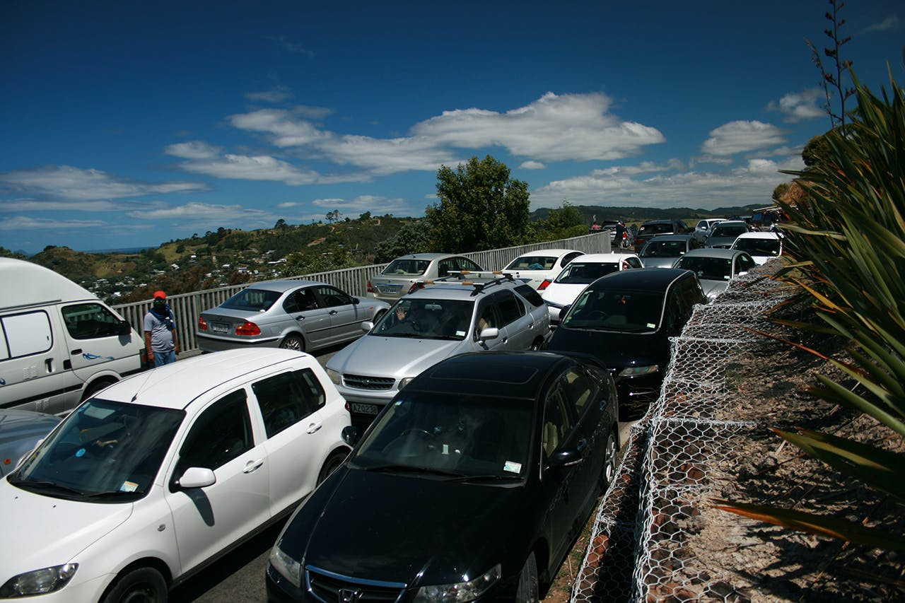 The car park at the start of the track is often bursting at the seams. Photo: Bill Stead
