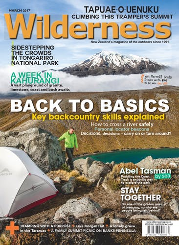 Image of the March 2017 Wilderness Magazine Cover