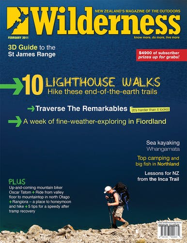 Image of the February 2011 Wilderness Magazine Cover