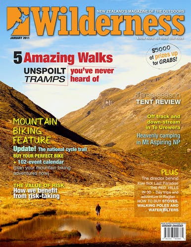 Image of the January 2011 Wilderness Magazine Cover