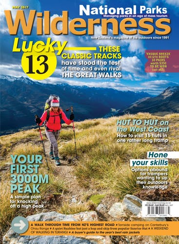Image of the May 2017 Wilderness Magazine Cover