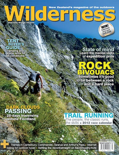 Image of the November 2011 Wilderness Magazine Cover