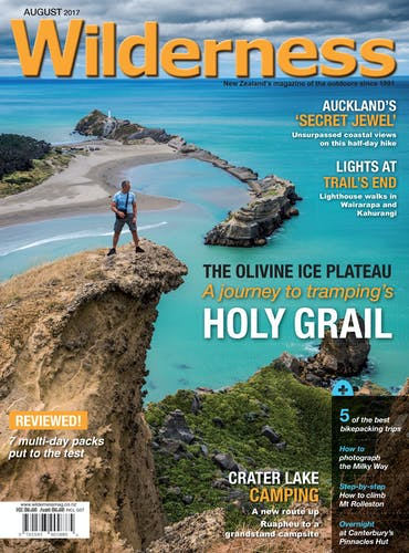 Image of the August 2017 Wilderness Magazine Cover