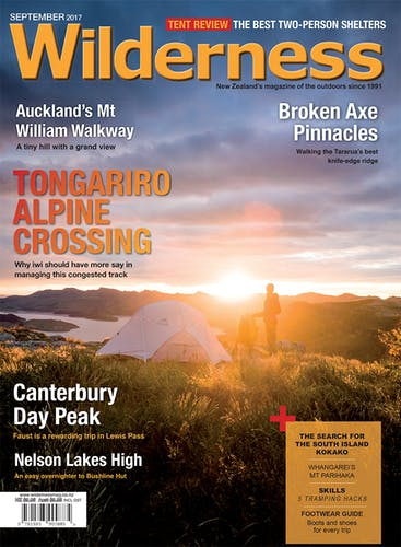 Image of the September 2017 Wilderness Magazine Cover