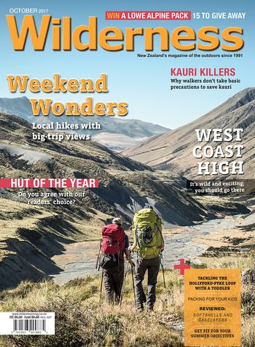 Image of the October 2017 Wilderness Magazine Cover