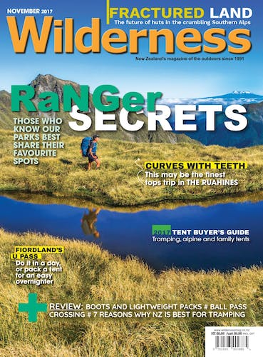 Image of the November 2017 Wilderness Magazine Cover