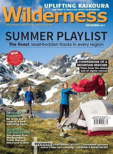 Image of the December 2017 Wilderness Magazine Cover