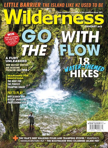 Image of the January 2018 Wilderness Magazine Cover