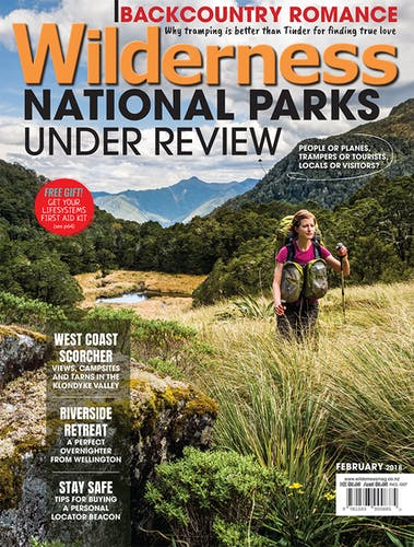 Image of the February 2018 Wilderness Magazine Cover