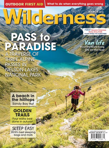 Image of the March 2018 Wilderness Magazine Cover