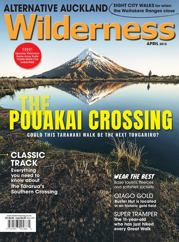 Image of the April 2018 Wilderness Magazine Cover