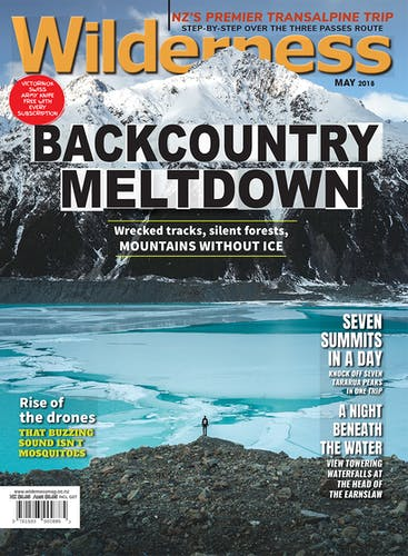 Image of the May 2018 Wilderness Magazine Cover