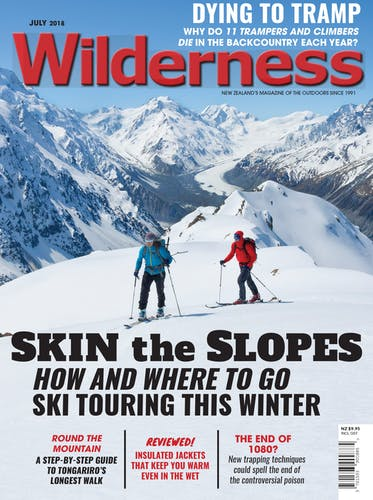 Image of the July 2018 Wilderness Magazine Cover