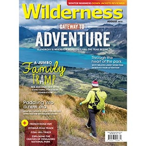 Image of the August 2018 Wilderness Magazine Cover