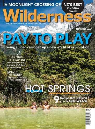 Image of the September 2018 Wilderness Magazine Cover