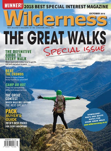 Image of the October 2018 Wilderness Magazine Cover