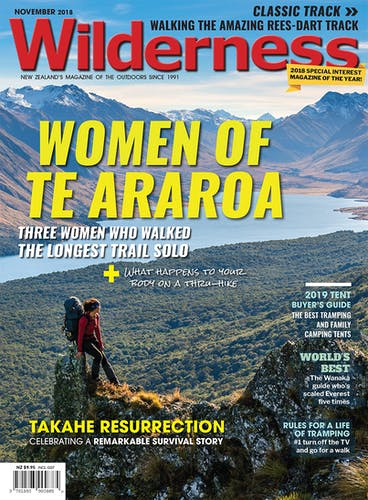 Image of the November 2018 Wilderness Magazine Cover