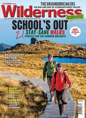 Image of the December 2018 Wilderness Magazine Cover