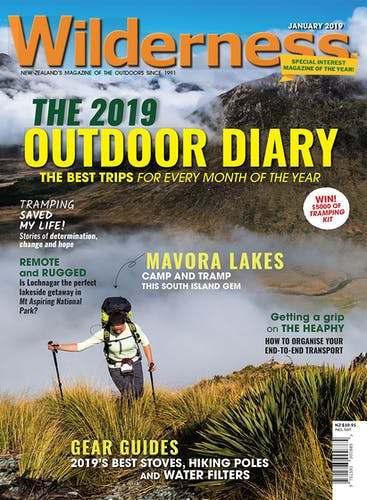 Image of the January 2019 Wilderness Magazine Cover