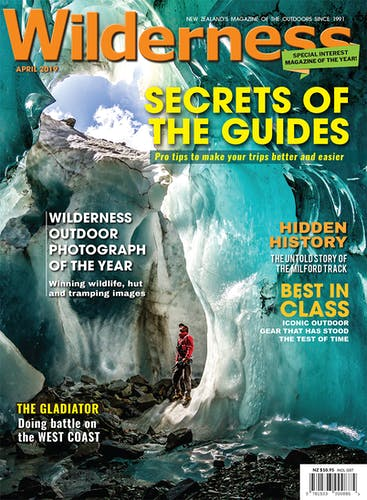 Image of the April 2019 Wilderness Magazine Cover