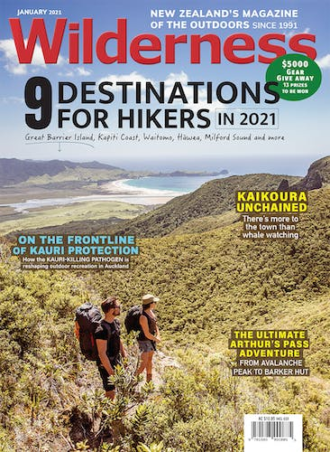 Image of the January 2021 Wilderness Magazine Cover