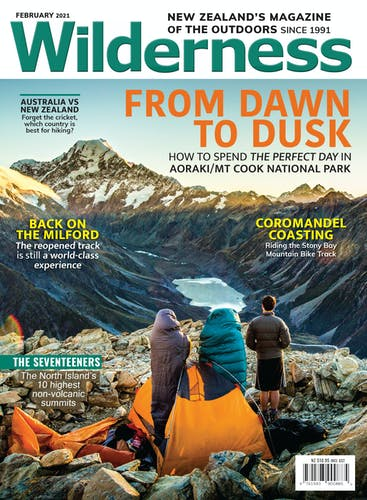Image of the February 2021 Wilderness Magazine Cover