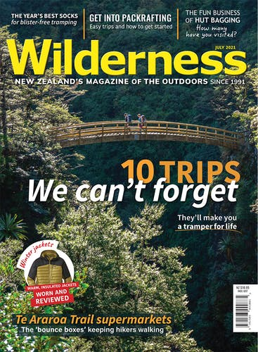 Image of the July 2021 Wilderness Magazine Cover