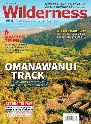 Image of the August 2021 Wilderness Magazine Cover