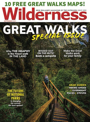 Image of the September 2021 Wilderness Magazine Cover