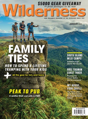Image of the January 2020 Wilderness Magazine Cover