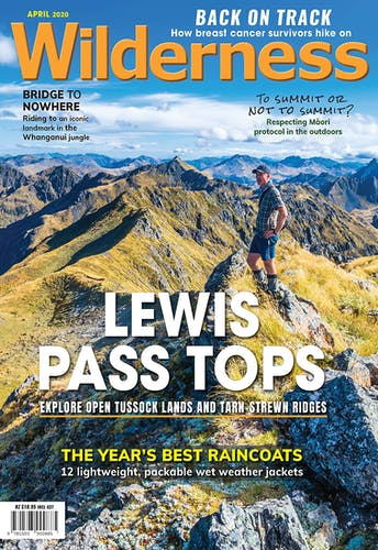 Image of the April 2020 Wilderness Magazine Cover