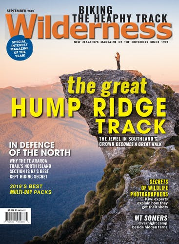 Image of the September 2019 Wilderness Magazine Cover