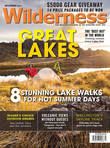 Image of the December 2019 Wilderness Magazine Cover